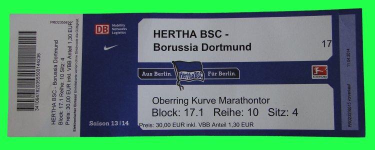 Dauerkarte Hertha Preis