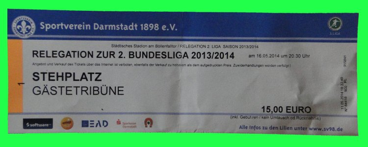 Ticket Darmstadt 98