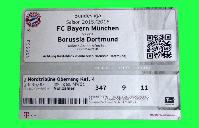 Tickets Dortmund Bayern