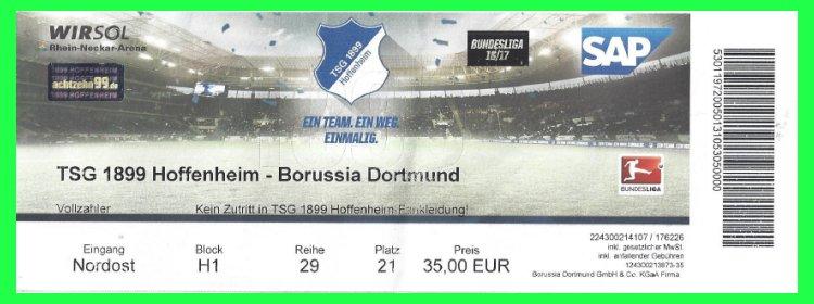 Hoffenheim Dortmund Tickets