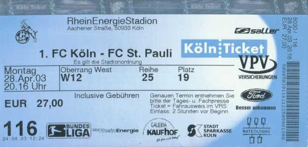 1 Fc Köln Vs Fc St Pauli 21