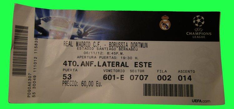 Dortmund Real Madrid Tickets