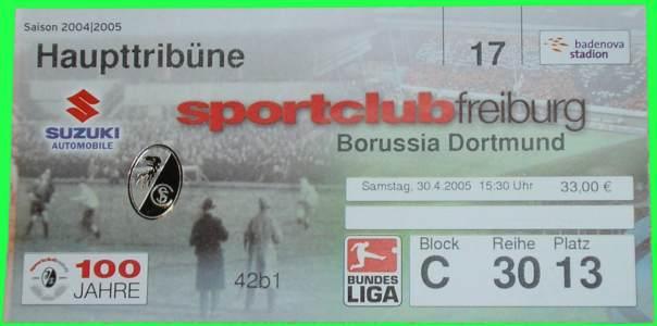 Sc Freiburg Karten.Sc Freiburg Vs Borussia Dortmund 2 2