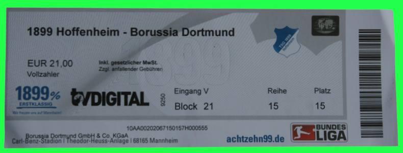 Tickets Hoffenheim Dortmund