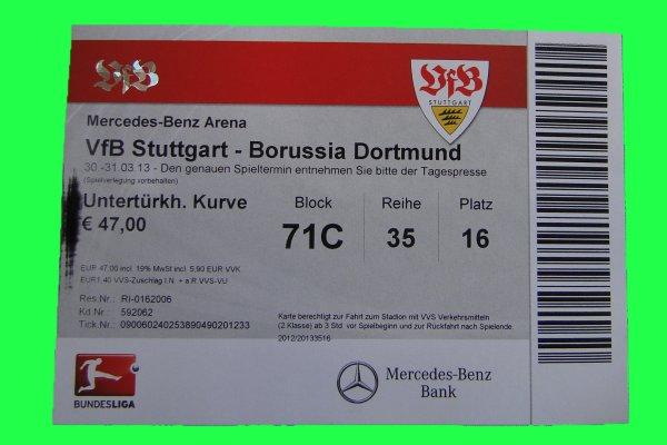 Stuttgart Dortmund Tickets